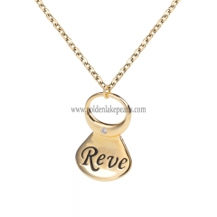"Gold Plated S925 Sterling Silver ""Pop Cans Top""  Necklace"