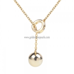 "Gold Plated S925 Sterling Silver ""Ball Chain""  Necklace"